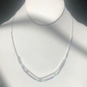 Nadri Multi Strand Crystal Necklace